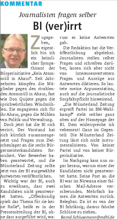 Screenshot: Kommentar von B. Schlusemann